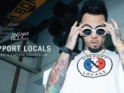 SneakaVilla Support Local logo T-shirt