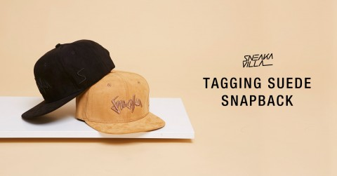 Tagging suede snapback - Feature